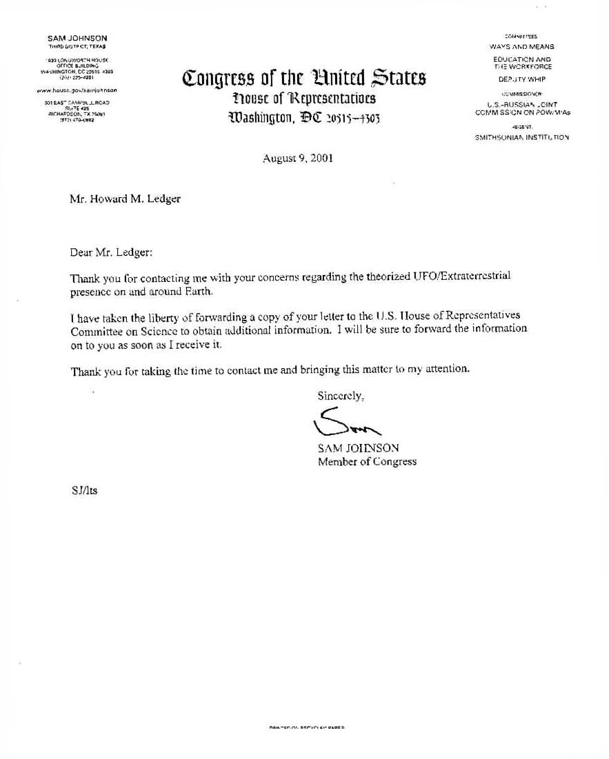 How to write letter to congressman