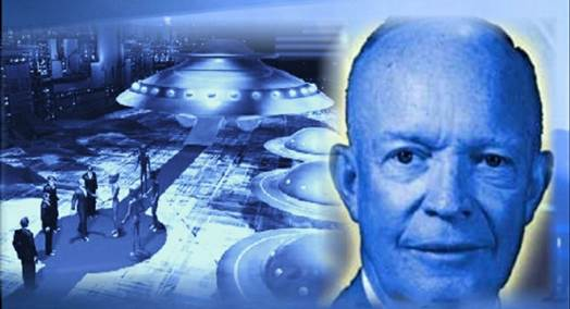 Risultati immagini per president eisenhower alien meeting